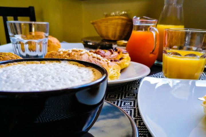 La colazione a Villa Maria B&B ad Osimo